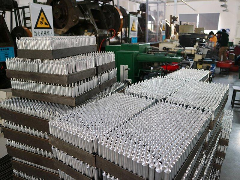 After trimming, extruded tubes are ready for annealing