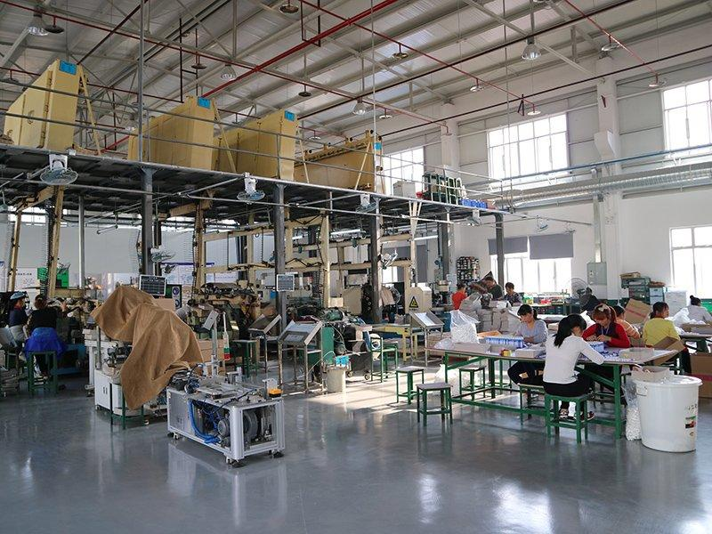 Production department for aluminum packaging tubes